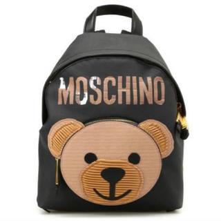 モスキーノ(MOSCHINO)の正規品 モスキーノ クマ リュック テディベア 黒 保証カード付き 美品(リュック/バックパック)