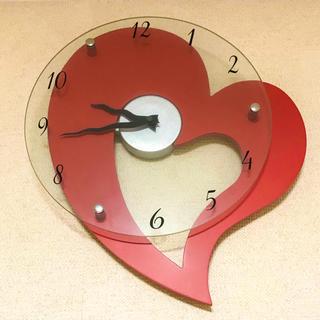 ニトリ - 時計 ハート 壁 掛け時計