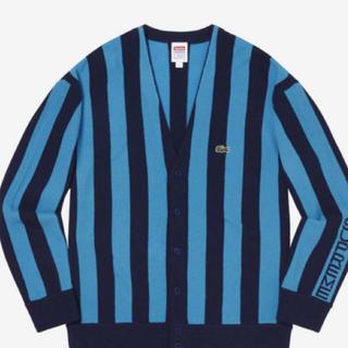 シュプリーム(Supreme)のLサイズ supreme Lacoste Stripe Cardigan(カーディガン)