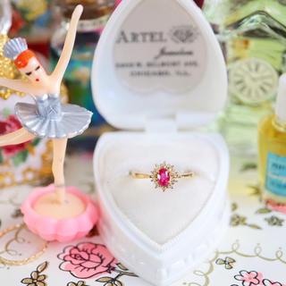 お取り置きページ🎂小さいカップケーキみたいなルビーとダイヤの取り巻きリング♪(リング(指輪))