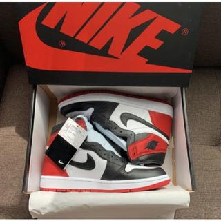 "ナイキ(NIKE)のNIKE WMNS AIR JORDAN 1 SATIN ""BLACK TOE""(スニーカー)"