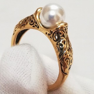 リング 指輪 真珠 パール レディース  愛情 涙 お守り 守護 恋愛成就(リング(指輪))