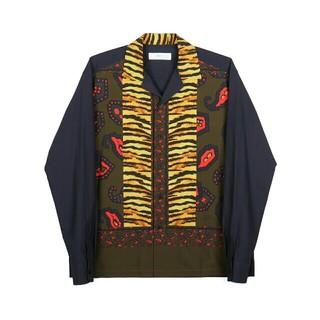 トーガ(TOGA)のtoga virilis  panel print cotton shirt(シャツ)