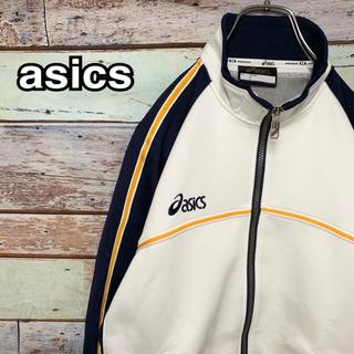 アシックス(asics)のアシックス Sサイズ ジャージ トラックジャケット ロゴ ホワイト(ジャージ)