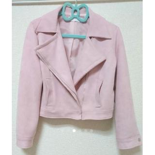 セシルマクビー(CECIL McBEE)のジャケット ピンク スエード セシルマクビー(ライダースジャケット)