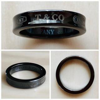 ティファニー(Tiffany & Co.)のティファニー 1837 ナローリング ミッドナイト ブラックチタン 指輪(リング(指輪))
