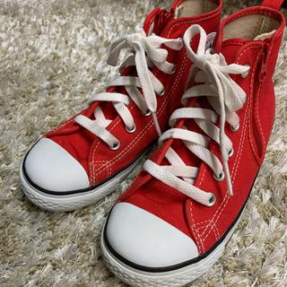 コンバース(CONVERSE)のKIDS CONVERSE RED 20cm(スニーカー)