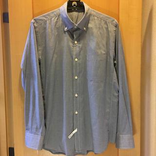 ニジュウサンク(23区)の23区 HOMME  ブルーのボタンダウン  サイズ48 (L)(シャツ)