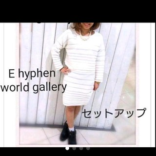 E hyphen world gallery ニットセットアップ