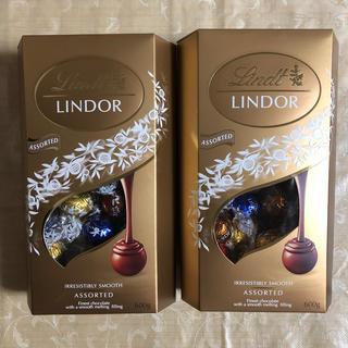 リンツ(Lindt)の《未開封》リンツ リンドール 4種類アソート  2箱セット(菓子/デザート)