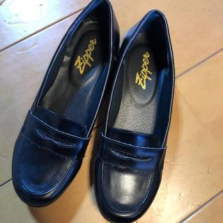 zipper  ローファー 黒(ローファー/革靴)