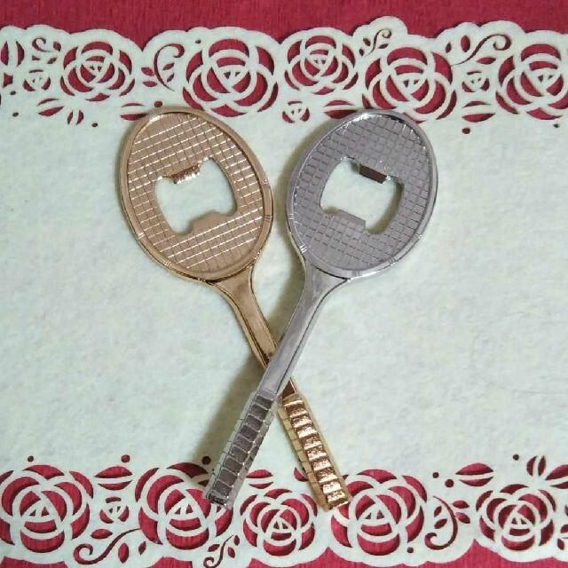 ☆未使用品☆ 栓抜き SERVICE ACE テニスラケット 2点セット インテリア/住まい/日用品のキッチン/食器(その他)の商品写真