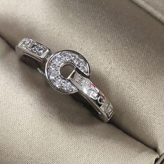 ブルガリ(BVLGARI)のBVLGARIBVLGARIのホワイトゴールドとダイヤの指輪(リング(指輪))