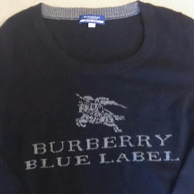 BURBERRY(バーバリー)のバーバリー    ロゴ入りブラックニット レディースのトップス(ニット/セーター)の商品写真