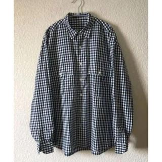 コモリ(COMOLI)のポータークラシック ロールアップシャツ ギンガムネイビー コモリ、オーラリー (シャツ)