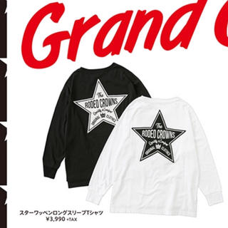 RODEO CROWNS WIDE BOWL - スターワッペンロングスリーブTシャツ