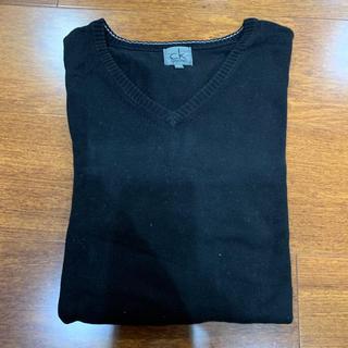 カルバンクライン(Calvin Klein)のカルバンクライン Vネック コットンニット セーター L(ニット/セーター)