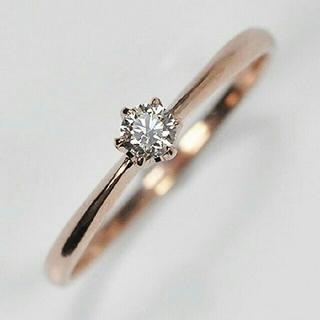 K10PGリング   ダイヤモンド0.1ct  (リング(指輪))