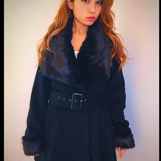 リゼクシー(RESEXXY)の雑誌掲載 ♡ リゼクシー ファー付 コート(チェスターコート)