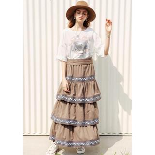 アリシアスタン(ALEXIA STAM)のALEXIA STAM  Tee &TieredMaxi Skirt(Tシャツ(半袖/袖なし))