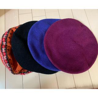 ユニクロ(UNIQLO)の【送料込み】ベレー帽 4点セット ユニクロ あったかい 秋冬(ハンチング/ベレー帽)