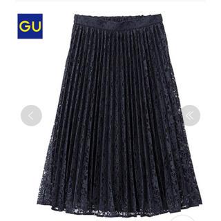 ジーユー(GU)のジーユー GU プリーツレーススカート (ひざ丈スカート)