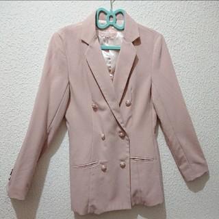 シマムラ(しまむら)のくすみピンク テーラード ジャケット♥夢展望 GU(テーラードジャケット)