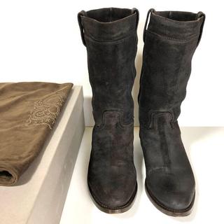 サルトル(SARTORE)の40 SARTORE サルトル ミドル ブーツ ブラウン 25.5 ワークブーツ(ブーツ)