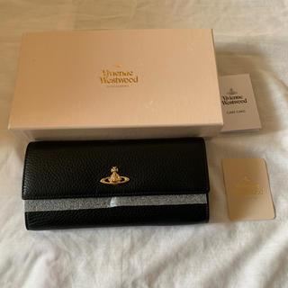 ヴィヴィアンウエストウッド(Vivienne Westwood)のvivienne westwood ブラック 新品 長財布(財布)