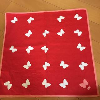 ハナエモリ(HANAE MORI)のハナエモリ  ハンカチ  大きめサイズ  新品ソックスおまけ  美品(ハンカチ)