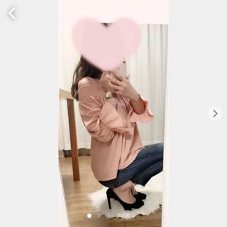 ジーユー(GU)のGU♡ピンクのオフショルトップス♡(カットソー(長袖/七分))
