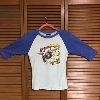 ジャンクフード(JUNK FOOD)のジャンクフード 七分袖Tシャツ スーパーガール(Tシャツ(長袖/七分))
