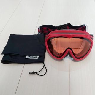 スワンズ(SWANS)のスキー スノーボード ゴーグル 赤 SWANS(ウエア/装備)