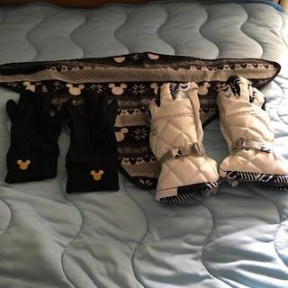 ディズニー(Disney)のスキー スノボ用手袋 首巻き レディース メンズ(ウエア/装備)