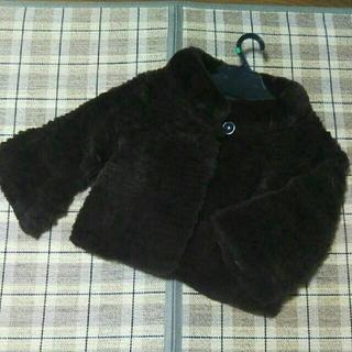 エムプルミエ(M-premier)の【サイズ34】エムプルミエ レッキスファージャケット 茶色(毛皮/ファーコート)
