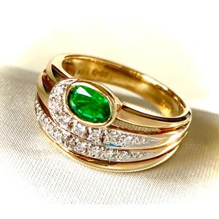 ⭐︎rinmama様 専用 K18 エメラルド ダイヤ デザインリング⭐︎(リング(指輪))
