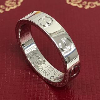 カルティエ(Cartier)の【保証書付/仕上済】Cartier カルティエ ミニラブリング 4号 Pt950(リング(指輪))