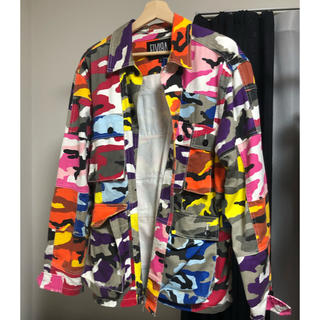 ELVIA - ELVIRA ミリタリーパッチワークジャケット