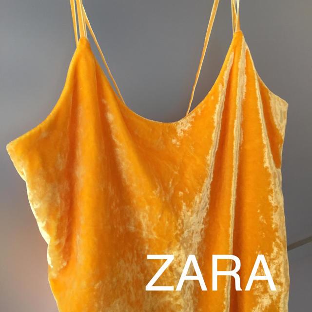 ZARA(ザラ)の新品 ZARA ワンピースミニ ベロア レディースのワンピース(ミニワンピース)の商品写真