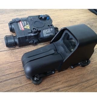 ドットサイト ライト付きレーザーサイト セット サバゲー m4 AR15  (カスタムパーツ)
