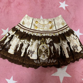 アンジェリックプリティー(Angelic Pretty)のAngelic Pretty チェスチョコレートスカート アイボリー(ミニスカート)