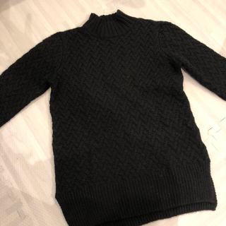 アグノスト(AGNOST)のAGNOST ハイネック セーター 黒(ニット/セーター)