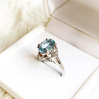 アクアマリン ダイヤ6pt プラチナ リング(リング(指輪))