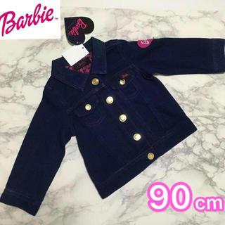 バービー(Barbie)の即購入OK!新品タグ付★Barbie キッズ 柔らか Gジャン デニム 90cm(ジャケット/上着)