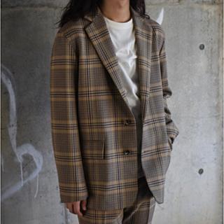 コモリ(COMOLI)の新品未使用 AURALEE JACKET BEIGEGLENCHECK(テーラードジャケット)