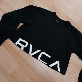 ルーカ(RVCA)の新品タグロンTルーカRVCA黒ショート丈(Tシャツ(長袖/七分))