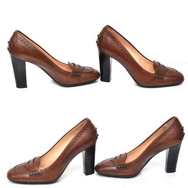 TOD'S(トッズ)のトッズ ローファーデザイン パンプス 35(約22cm) レディースの靴/シューズ(ハイヒール/パンプス)の商品写真