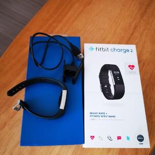 のり様専用Fitbit charge 2 美品 おまけ付き 黒 smallサイズ(トレーニング用品)