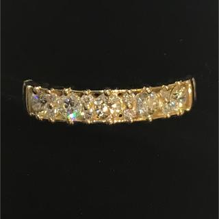 天然ダイヤモンド0.5カラット18金YGリング💕幅4.2ミリ!(リング(指輪))