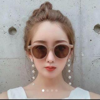スタイルナンダ(STYLENANDA)の新品🌿サングラス🌿韓国🌿ベージュ(サングラス/メガネ)